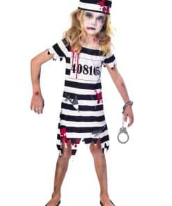 Zombie Convict Girl Child Costume