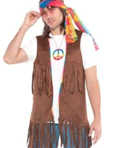 1960's Long Hippie Vest Adult Costume