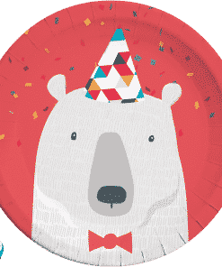 Arctic Party Polar Bear Paper Plates