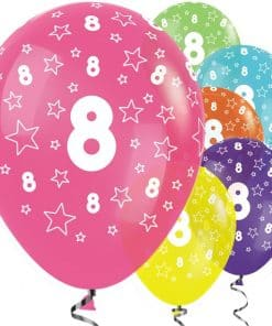 8th Birthday Tropical Mix Balloons