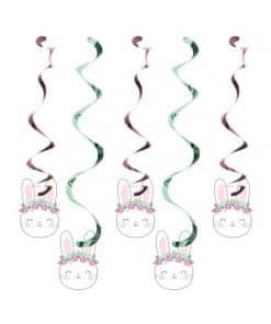 Birthday Bunny Party Hanging Swirl Decorations