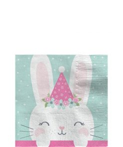 Birthday Bunny Party Beverage Napkin