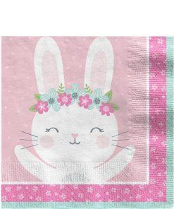 Birthday Bunny Party Lunch Napkin