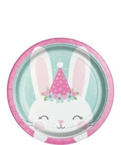 Birthday Bunny Party Lunch Plate
