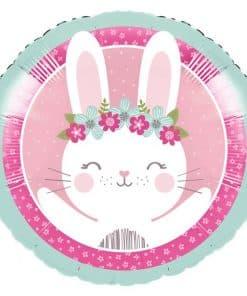 Birthday Bunny Party Metallic Foil Balloon