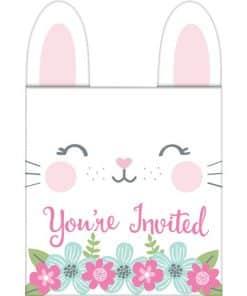 Birthday Bunny Party Pop Up Invitations