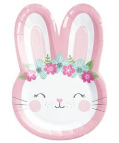 Birthday Bunny Party Shaped Plates
