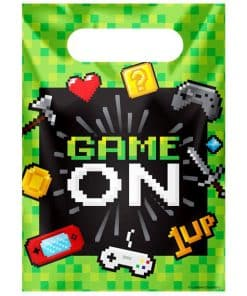 Game On Party Plastic Loot Bags