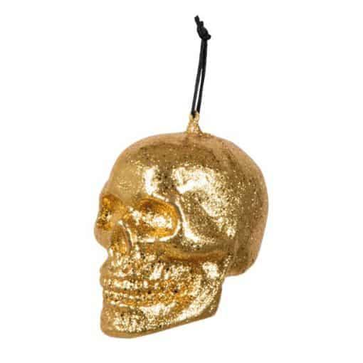 Hanging Gold Skull