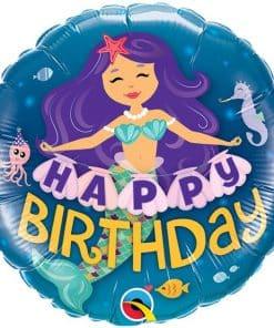 'Happy Birthday' Mermaid Balloon