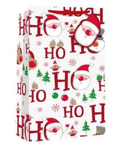 Ho Ho HO Christmas Double Bottle Bag - 35cm