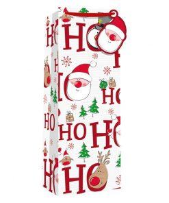 Ho Ho Ho Christmas Bottle Bag - 35cm