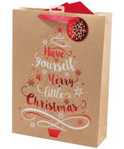Kraft Tree Extra Large Christmas Gift Bag