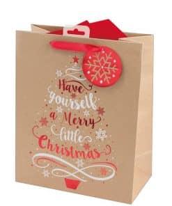 Kraft Tree Large Christmas Gift Bag