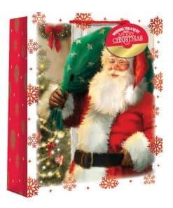 Large Traditional Santa Snowscene Christmas Gift Bag