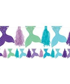 Mermaid Wishes Party Glitter Tassel Garland
