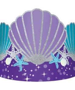Mermaid Wishes Party Paper Tiara Crowns