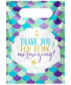 Mermaid Wishes Party Plastic Loot Bags
