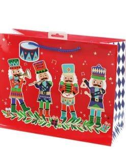 Nutcracker Large Christmas Gift Bag