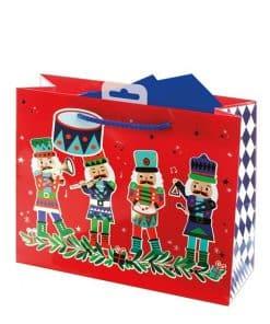 Nutcracker Medium Christmas Gift Bag
