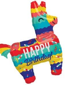 Piñata Happy Birthday Supershape Balloon