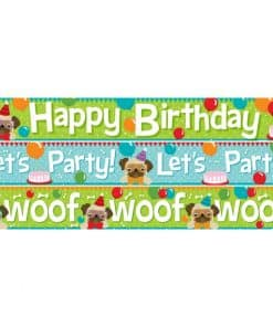 Pug Birthday Paper Banners