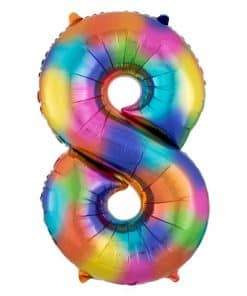 Rainbow Splash Number Balloons