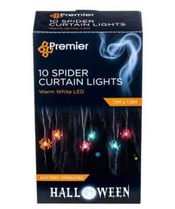 Halloween Spider Curtain Lights
