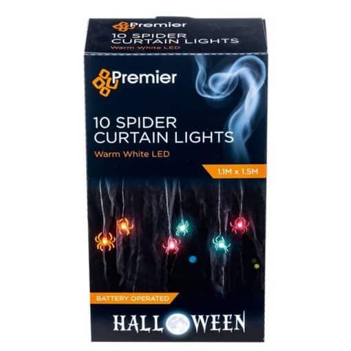Halloween Spider Curtain Lights