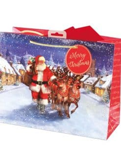 Traditional Santa Large Christmas Gift Bag