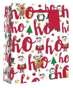Extra Large Ho Ho Ho Glitter Christmas Gift Bag