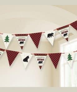 Little Lumberjack Party Pennant Banner