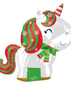 Christmas Unicorn Balloon