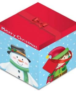 Deluxe Snowman & Elf Christmas Gift Box