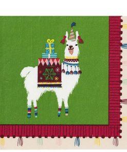 Festive Llama Christmas Paper Napkins