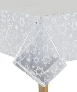 Hanukkah Plastic Tablecover -1.4m x 2.7m