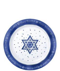 Hanukkah Premium Plastic Plates