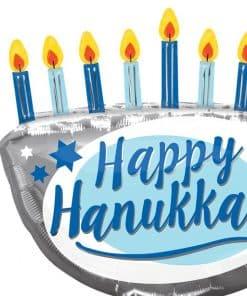 Happy Hanukkah Menorah Balloon