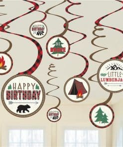 Little Lumberjack Swirl Decorations