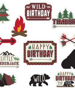 Little Lumberjack Party Cut-outs