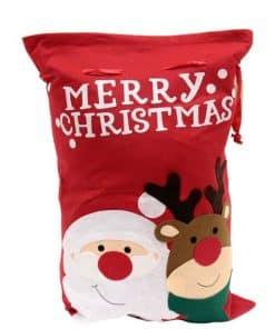 Luxury Santa & Reindeer Christmas Sack