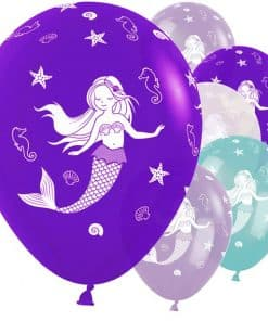 Mermaid Printed Latex Balloons