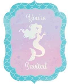 Mermaid Shine Iridescent Invites
