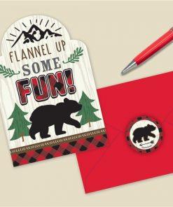 Little Lumberjack Party Postcard Invitations