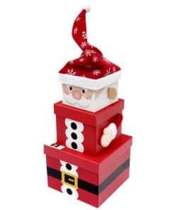 Santa Christmas Stacking Gift Box