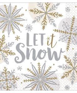 Let It Snow Lunch Napkins