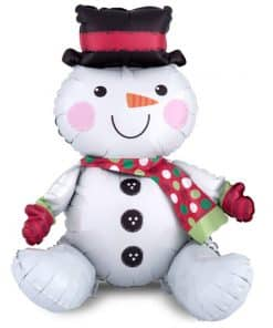 Sitting Snowman Balloon