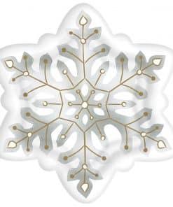 Snowflake Shaped Foil Plates