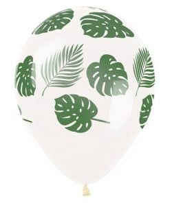 Tropical Leaves Printed Latex Balloons