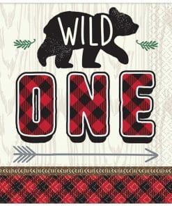 Little Lumberjack Party 'Wild One' Napkin